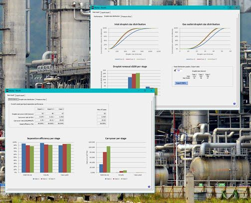 MySep | MySep Droplet Size Distribution and Carry-over Analysis LNG Separation